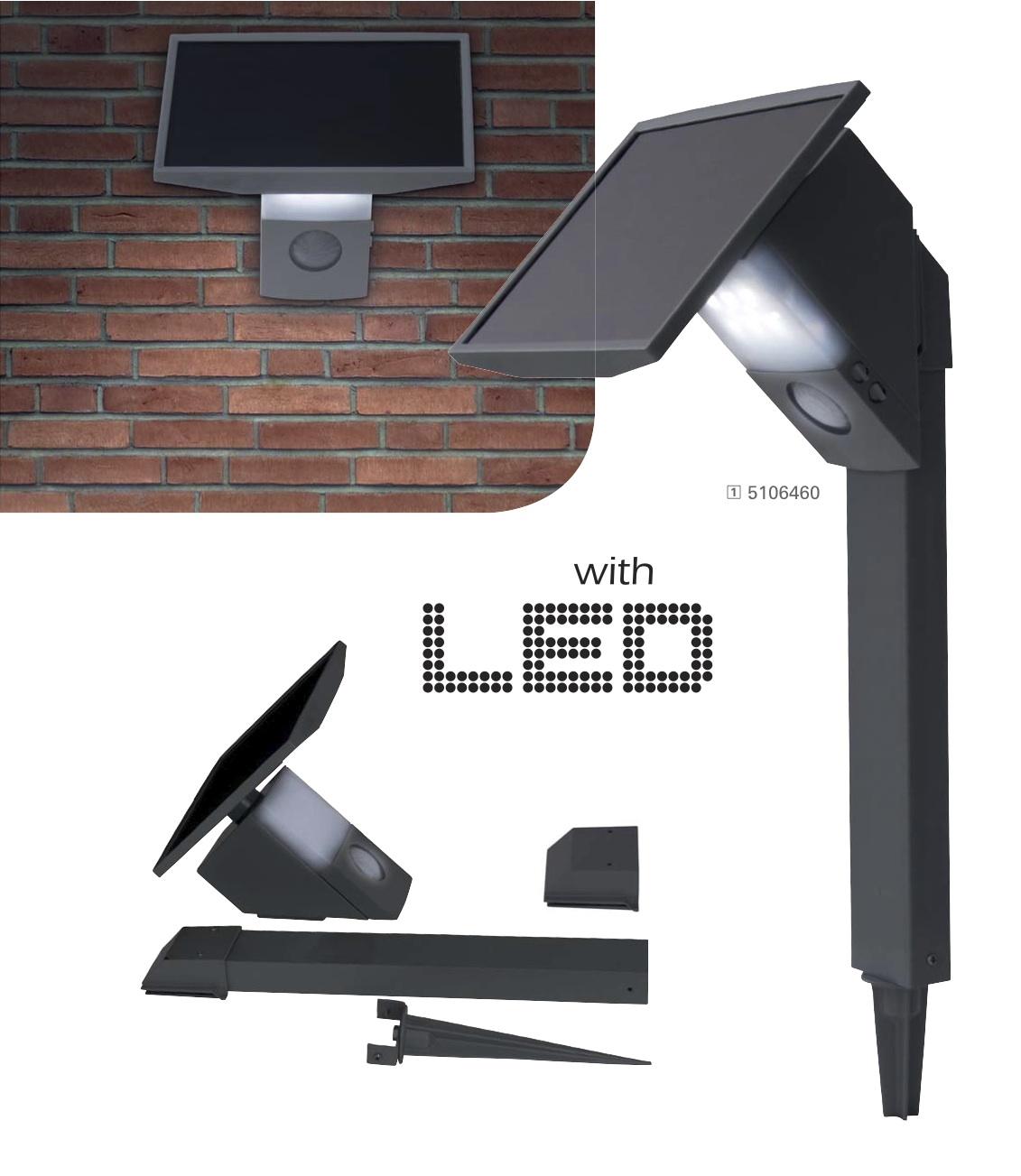 borne solaire puissante 480 lumens eclairage solaire. Black Bedroom Furniture Sets. Home Design Ideas