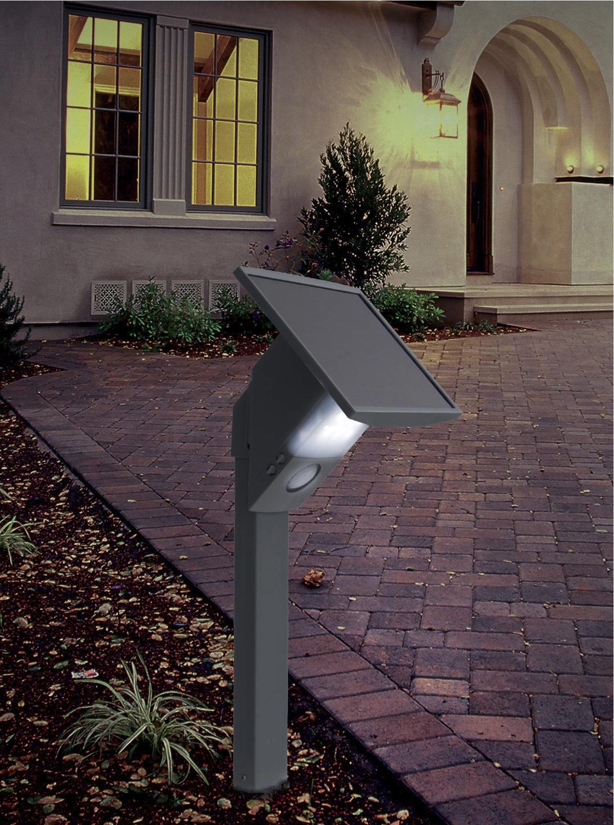 borne solaire puissante 480 lumens eclairage solaire puissant objetsolaire. Black Bedroom Furniture Sets. Home Design Ideas