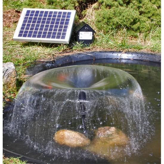 Pompe fontaine solaire jet d 39 eau bassin batterie et leds for Pompe pour bassin exterieur solaire