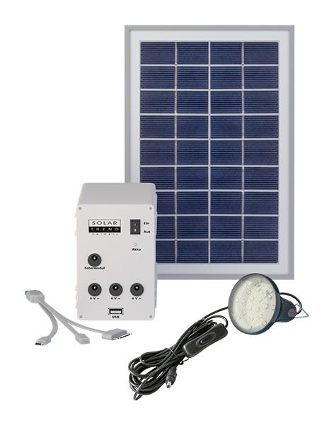 kit d 39 eclairage solaire panneau 5w 1 lampe led sud kit. Black Bedroom Furniture Sets. Home Design Ideas