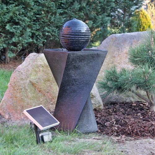 Fontaine solaire originale boule batteries et led - Fontaines solaires de jardin ...