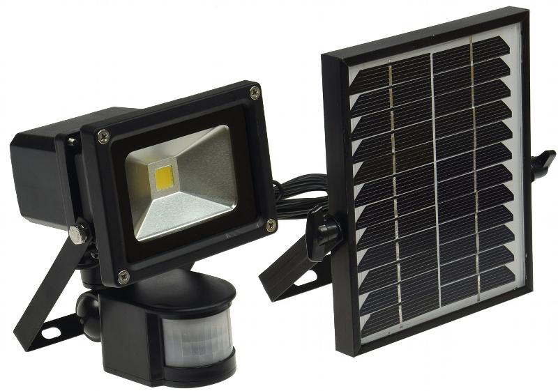 Projecteur solaire puissant 10 w zs 10 1000 lumens projecteurs solaires objetsolaire - Projecteur solaire avec detecteur de mouvement ...