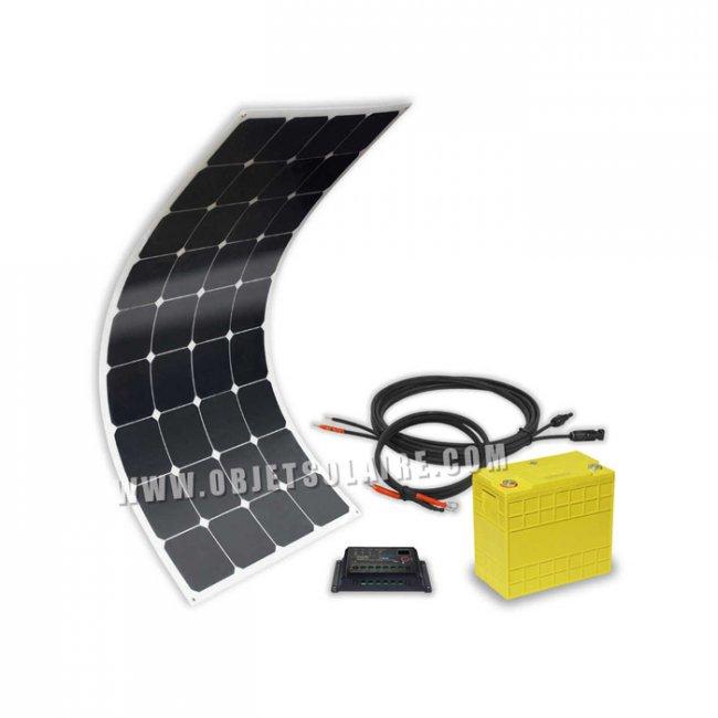 kit solaire sunpower 100w lithium 40a 12v sur le site. Black Bedroom Furniture Sets. Home Design Ideas