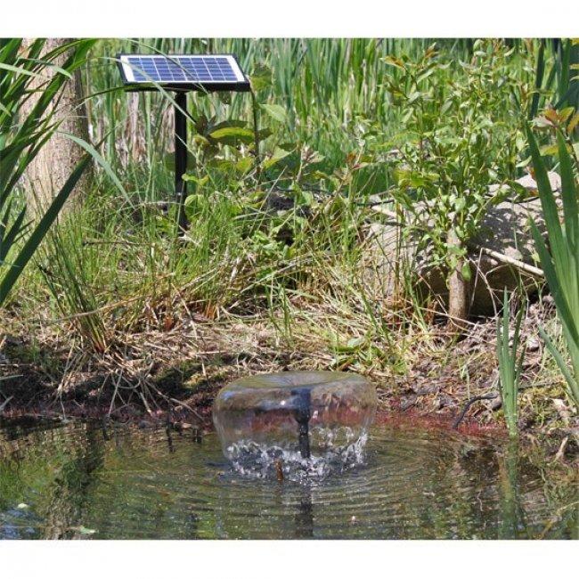 Pompe fontaine solaire jet d 39 eau 5w 470l h pompe solaire bassin objetsolaire - Pompe pour bassin solaire ...