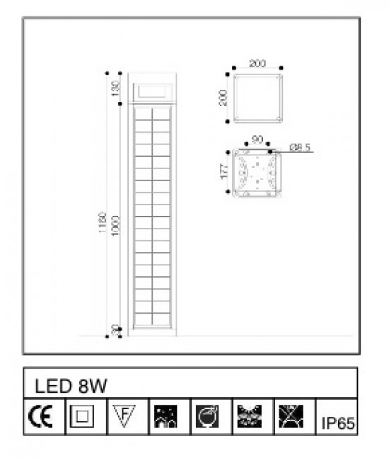 borne solaire puissante tetris eclairage solaire puissant objetsolaire. Black Bedroom Furniture Sets. Home Design Ideas